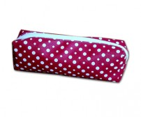 Pencil Case Polkadot Merah