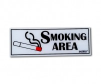 Acrylic Sign Smoking Area
