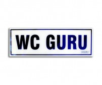 Acrylic Sign Ruang WC Guru