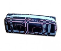 Pencil Case Square Black Pink