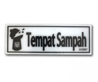 Acrylic Sign Tempat Sampah