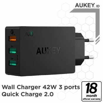 Aukey Charger 3 Ports 42W QC 2.0 & AiQ - 500231