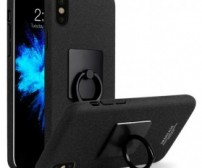 Imak Contracted iRing Hard Case for iPhone X - Black