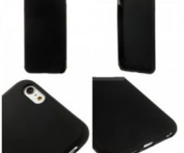 Frosted Plastic Sillicone TPU Softcase for iPhone 7/8 Plus - Black