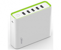 Hame H18 Power Bank 5 Output 20000mAh - White