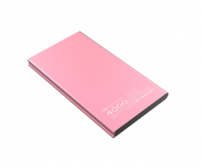 Hame T8 Power Bank 2 Port 4000mAh - Pink