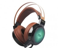Salar C13 Pro Gaming Headset RGB LED Light - Brown