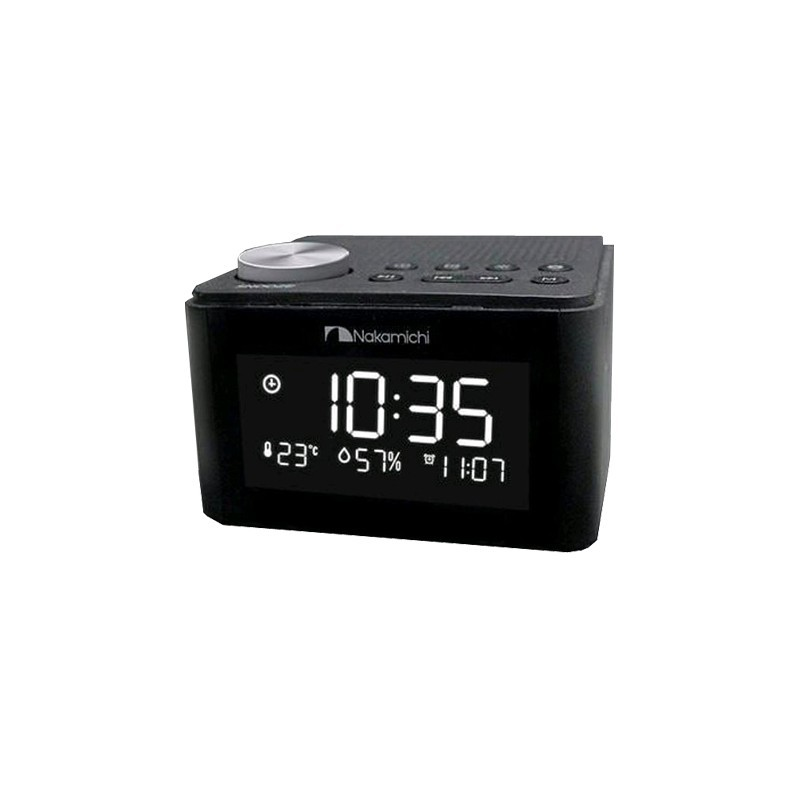 Nakamichi NPBS 70 - Mini Digital Clock Radio with Bluetooth