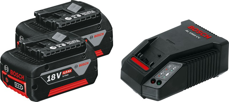 Bosch Starter Kit 2X18V Charger + Battery