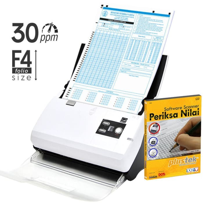 Paket Scanner SmartOffice PS30D + Software Periksa Nilai