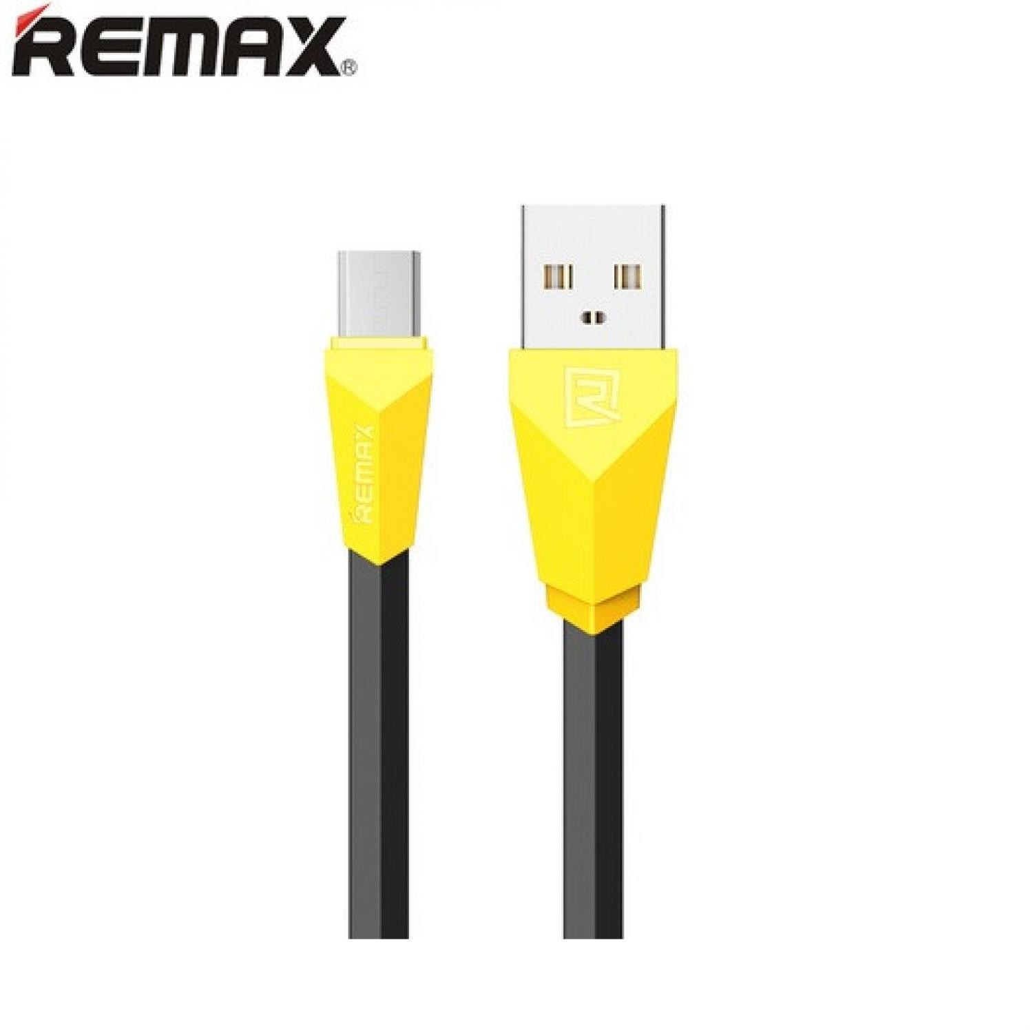 Remax Aliens Micro USB Cable for Smartphone - RC-030 (Black & Yellow)