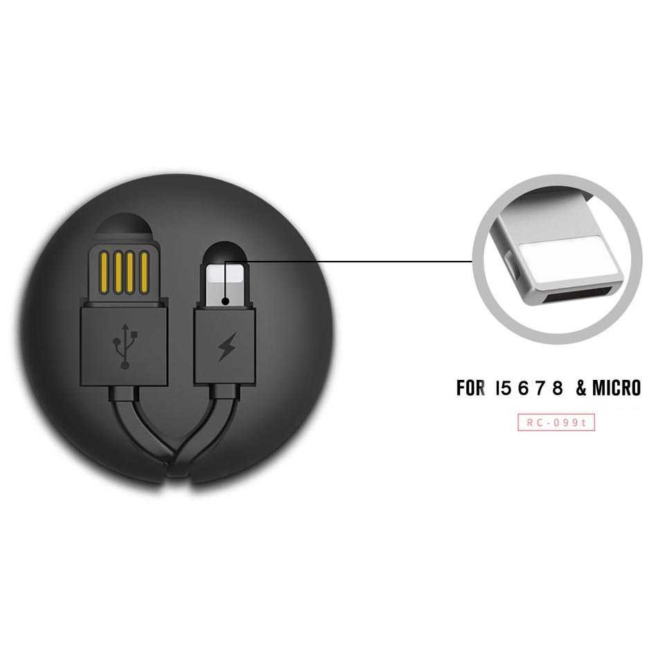 Remax Cutebaby Kabel Micro USB Lightning Retracable - RC-099T