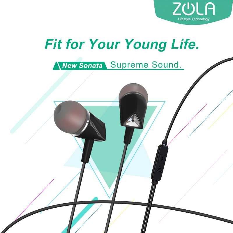 ZOLA New Sonata Wired In-Ear Earphone Noise Isolating Deep Bass
